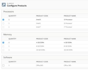 Bundled Products Screenshot
