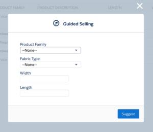 Guided Selling Screenshot