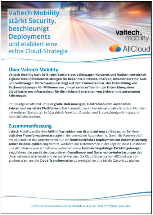 Valtech Mobility Use Case AWS AllCloud